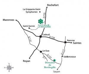 plan accès Massonne